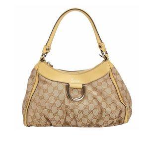 Vintage Gucci GG Abbey D Ring Shoulder Bag